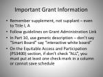 important grant information1