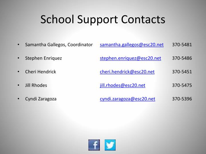 School Support Contacts