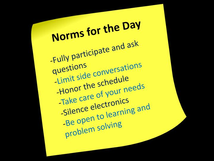 Norms for the Day