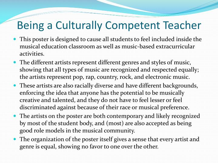 Being a Culturally Competent Teacher