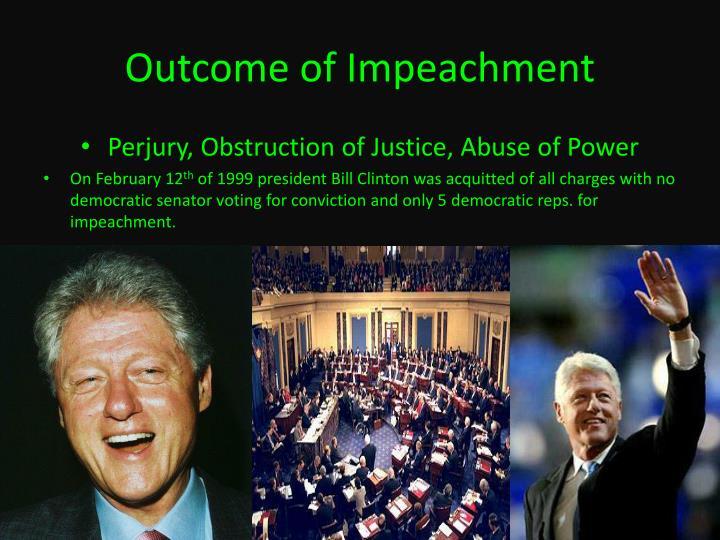Outcome of Impeachment