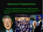 outcome of impeachment