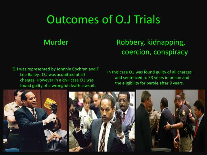 Outcomes of O.J Trials