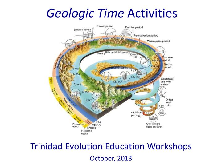 Geologic time activities