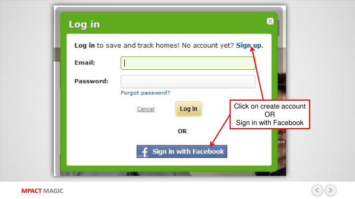 Click on create account