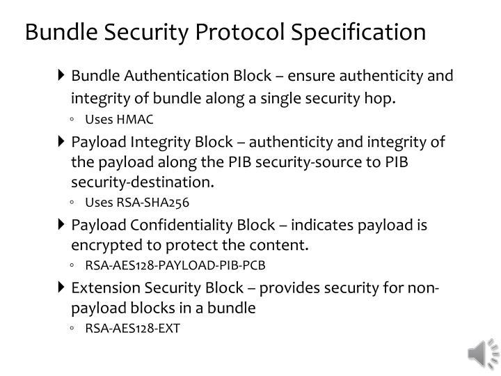 Bundle Security Protocol Specification