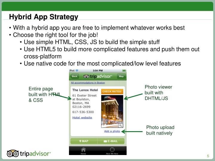Hybrid App Strategy