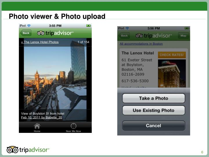 Photo viewer & Photo upload
