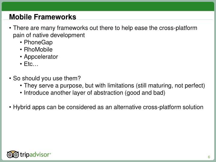 Mobile Frameworks