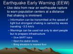 earthquake early warning eew