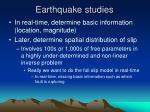 earthquake studies