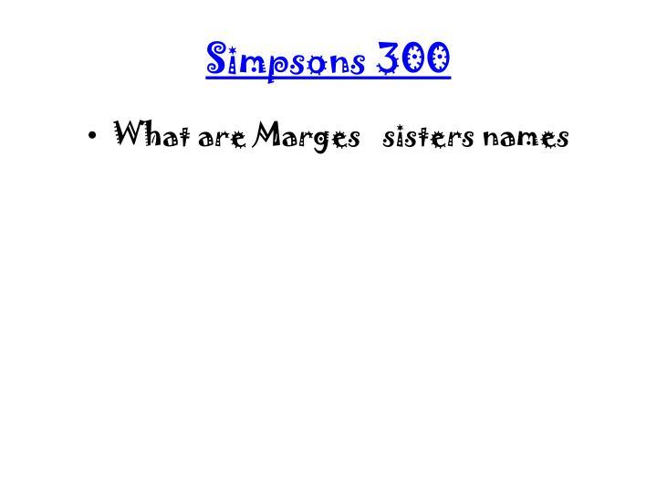 Simpsons 300