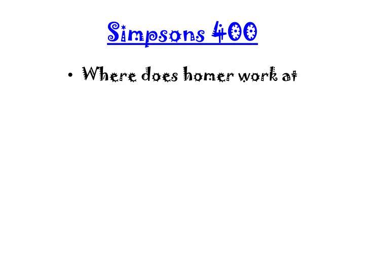Simpsons 400