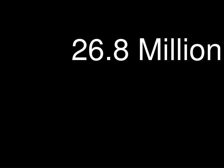 26.8 Million