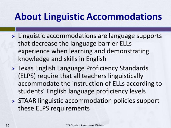 About Linguistic Accommodations