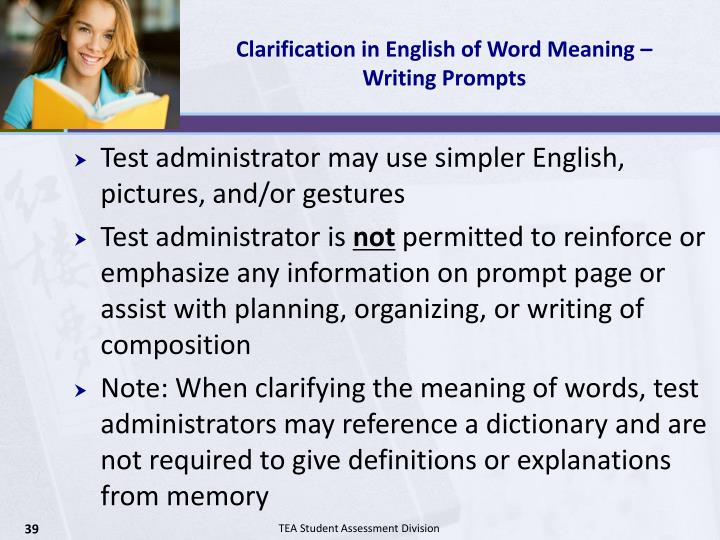 Clarification in English of Word Meaning – Writing Prompts
