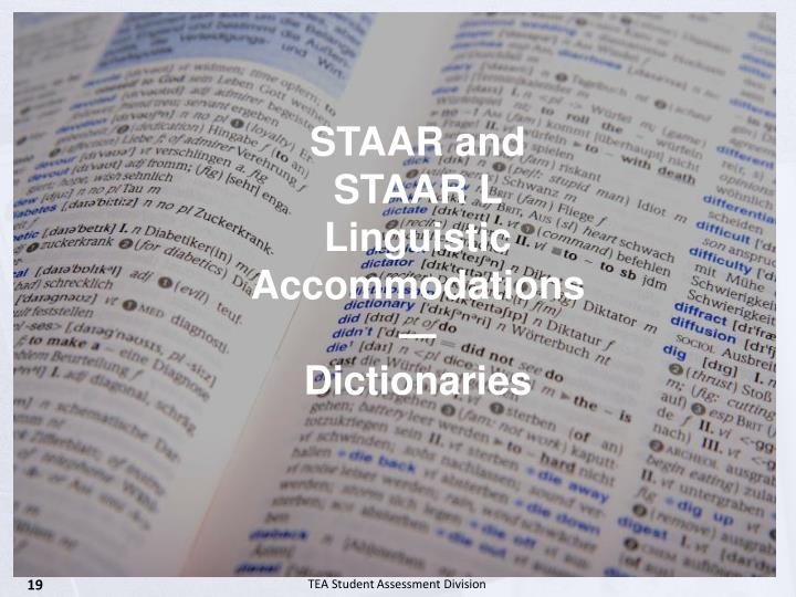 STAAR and STAAR L