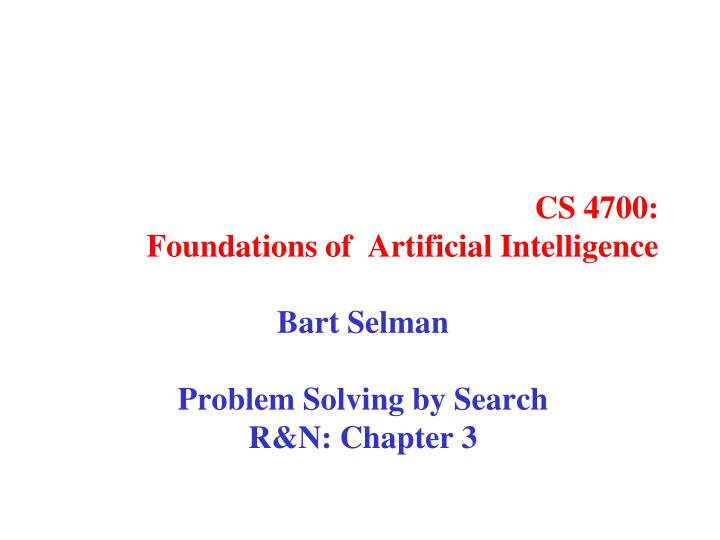 Problem Solving Techniques In Artificial Intelligence