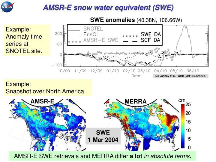 AMSR-E snow water equivalent (SWE)