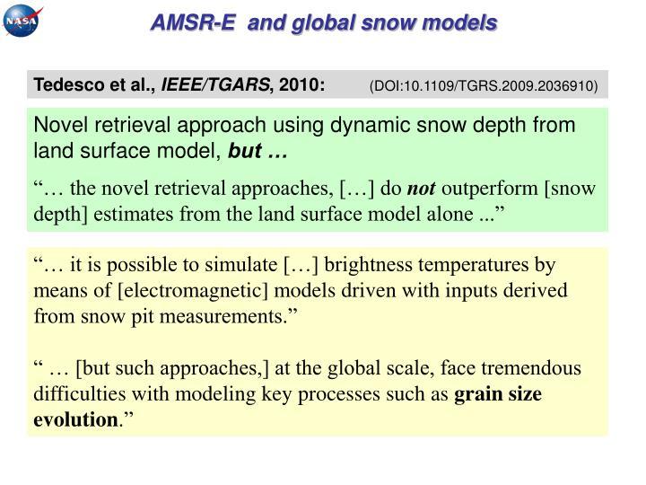 AMSR-E  and global snow models