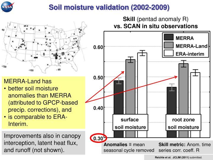 Soil moisture validation (2002-2009)