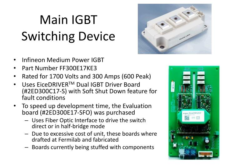 Main igbt switching device