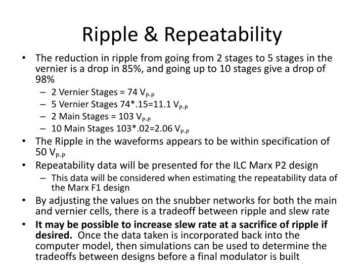 Ripple & Repeatability