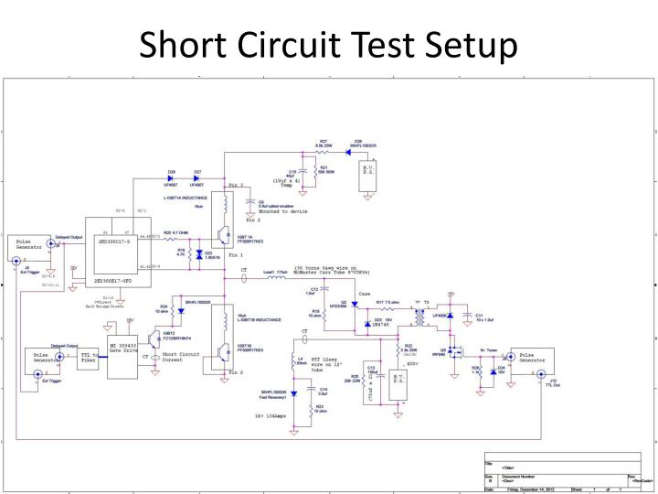 Short Circuit Test Setup