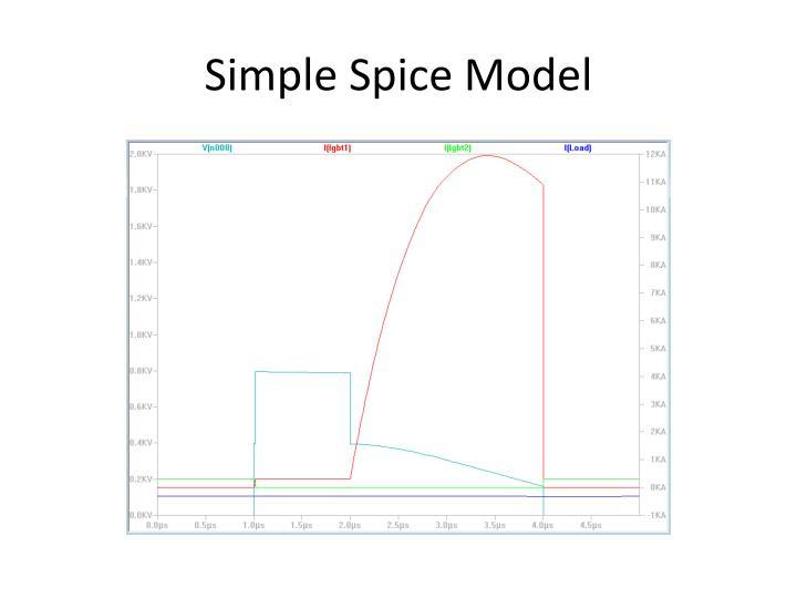 Simple Spice Model