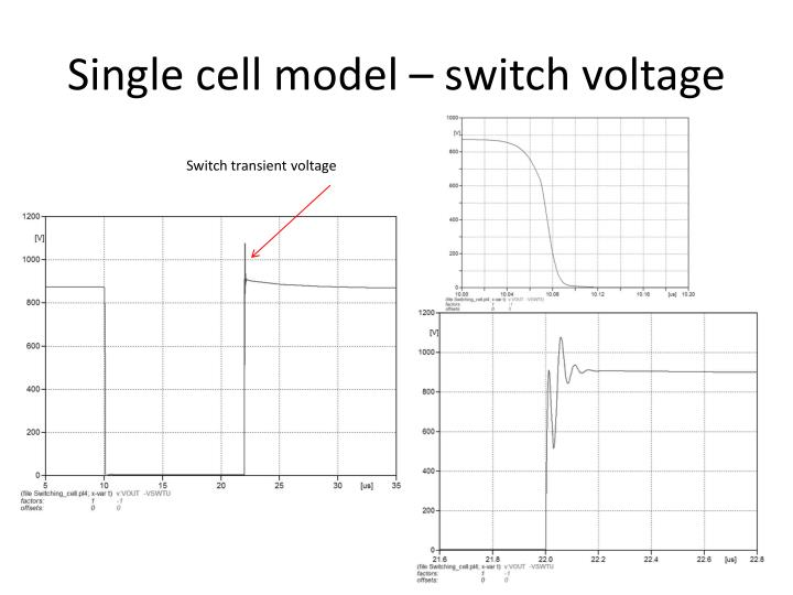 Single cell model – switch voltage