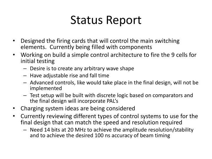 Status Report