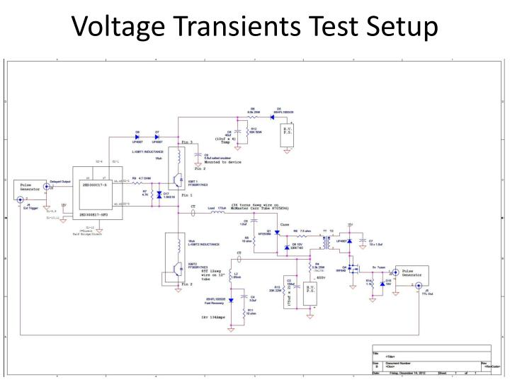 Voltage Transients Test Setup
