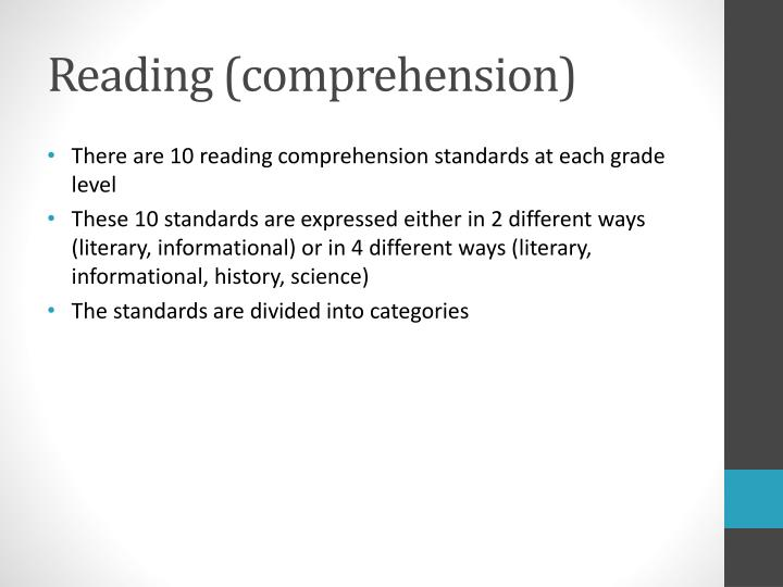 Reading (comprehension)
