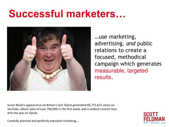Successful marketers…
