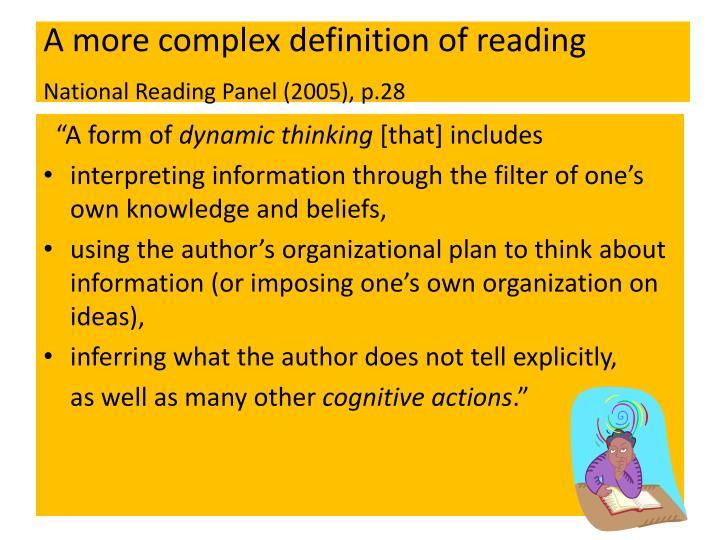 A more complex definition