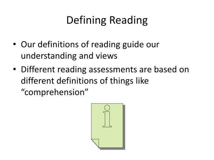 Defining Reading
