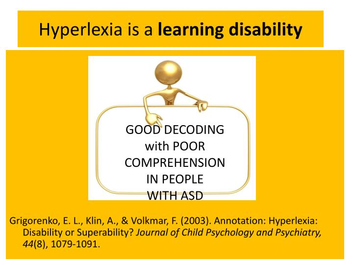 Hyperlexia
