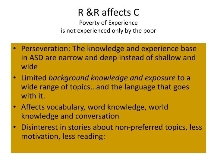 R &R affects C