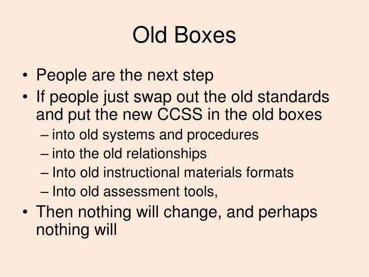 Old Boxes