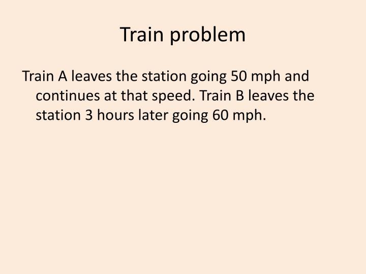 Train problem