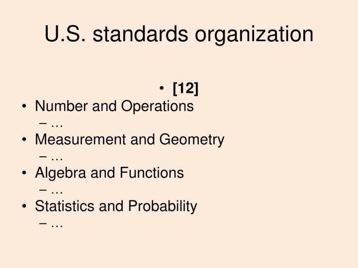 U.S. standards organization