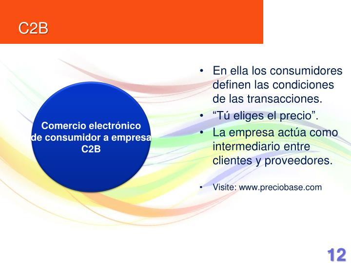 En ella los consumidores definen las condiciones de las transacciones.