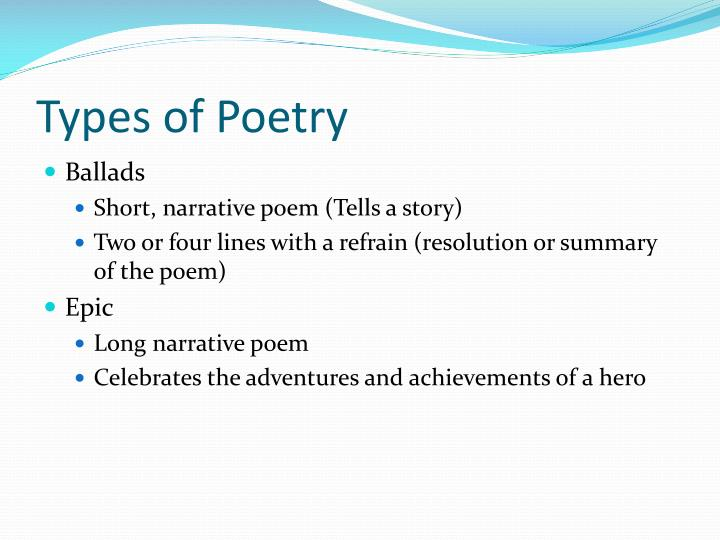 Types of poetry1