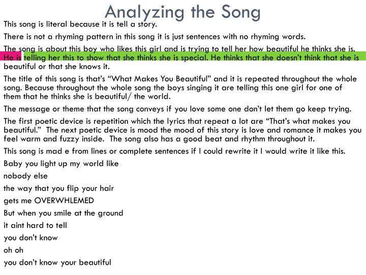 Analyzing the Song