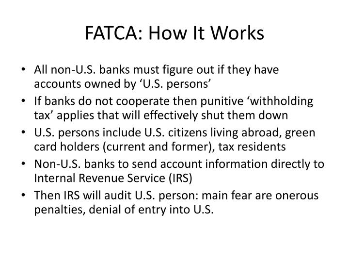 FATCA: How It Works