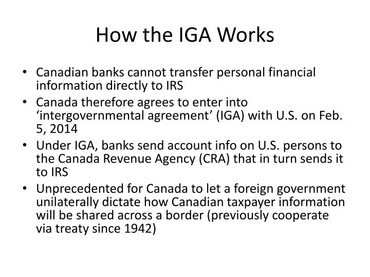 How the IGA Works