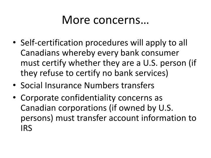 More concerns…
