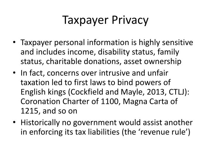 Taxpayer Privacy