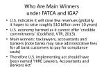 who are main winners under fatca and iga