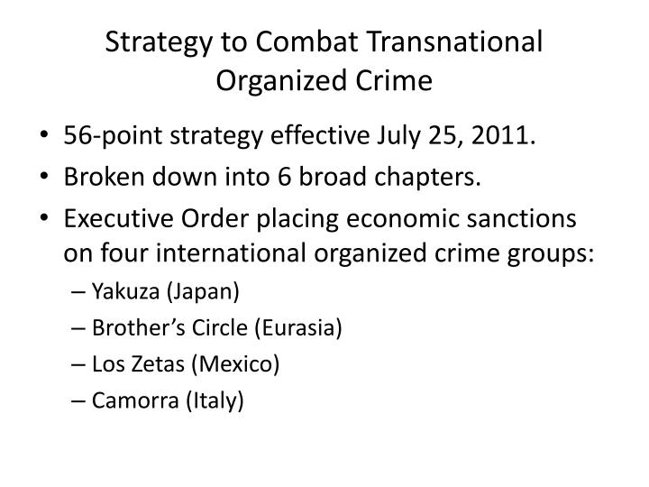 Strategy to Combat Transnational Organized Crime